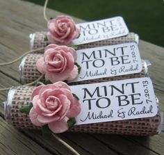 """""""Mint To Be"""" – what a smart wedding favor ideas. To see more: http://www.modwedding.com/2014/05/12/unique-wedding-favors-ideas/ #wedding #weddings #favor Featured: BabyEssentialsByMel"""