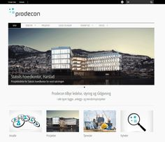 Slik ser Prodecons Wordpresside ut. Website, Design, Design Comics
