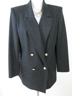 Vtg Dark Gray Sag Harbor Jacket Excellent Condition Size 10 #SagHarbor #BasicJacket