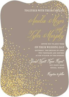 Love the sparkle in the invitation and love the diecut... maybe we do a diecut of something WP ish