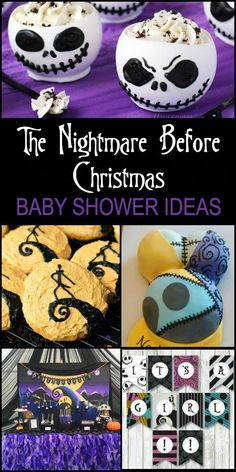 If you are expecting, love Halloween and everything Nightmare Before Christmas then these Nightmare Before Christmas Baby Shower Ideas are for you! Baby Shower Parties, Baby Shower Themes, Baby Boy Shower, Baby Shower Decorations, Baby Shower Gifts, Baby Gifts, Shower Ideas, Newborn Gifts, Christmas Gender Reveal
