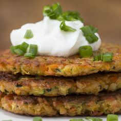 Veggies in fritter form = the best kind of veggies.