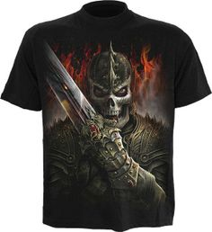 Skull /& dragon t-shirt-Dragon Gothique Crâne Fantasy tete de mort LATEX t-shirt