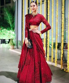 Bridal Lehenga Colour Palettes and What They Represent Indian Bridal Outfits, Indian Designer Outfits, Bridal Dresses, Designer Bridal Lehenga, Bridal Lehenga Choli, Golden Bridal Lehenga, Red Wedding Lehenga, Latest Bridal Lehenga, Actresses