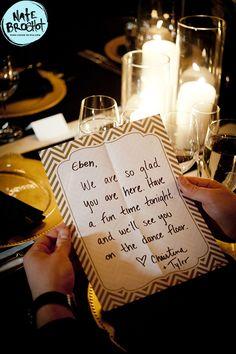 Bridal Bliss Wedding: Handwritten thank yous for each guest!