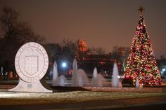 Texas Tech campus at Christmas. Photo by O'Jay R. Barbee