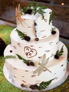 I LOVE the aspen wedding cake.