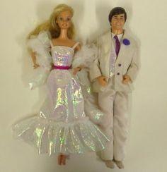 1980 barbie dolls | Vintage 1980's Crystal Barbie and Ken Dolls with Clothes | eBay