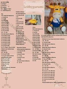 Amigurumi örgü oyuncak askılı pantalonlu zürafa modeli tarifi anlatımlı