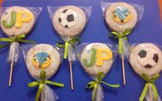 Biscoitos personalizados - Fuleco, bola de futebol