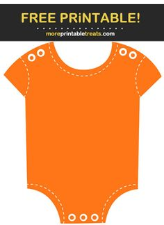 Orange Stitched Baby Onesie Cut Out