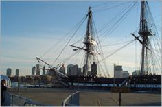 Old Ironsides in Boston Harbor.