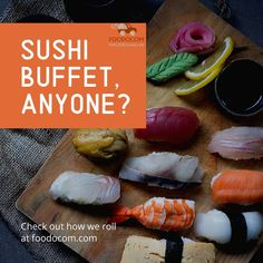 Wanting sushi everyday with hype food🍣 . Sashimi, Gourmet Food Store, Gourmet Recipes, Healthy Recipes, Sushi Buffet, Japanese Sushi, Instagram Post Template, Sushi Rolls, Food Photo