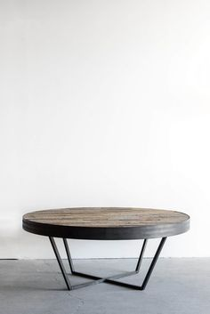 """45""""D + 16""""H INDUSTRIAL STEEL + BIRCH + RECLAIMED OAK RAWFINISH //CUSTOMIZE THIS PIECE  This Coffee Tableis Custom Made in Los Angeles. Industrial steel frame"""