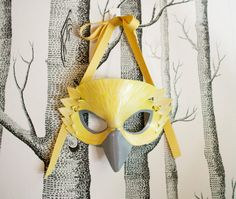 Yellow Finch Leather Mask Child Size  Made by SundriesAndPlunder, $58.00  One day I will have one. Yes, I will.