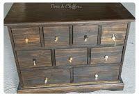 """Broc et Chiffons Relooking de meubles dans les deux sèvres 79. Patine à l'ancienne: Style """"Factory"""" pour le relooking de cette commode..."""