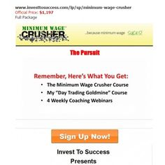 PROFESSIONAL MWC DAYTRADING COURSE(MINIMUM WAGE CRUSHER PRO COURSE)