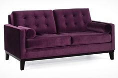 "There's only one word to describe the Hollywood Sofa Collection: Hollywood. Between the button tufted cushioning and the luxurious crushed velvet fabric, this set is so stylish and sexy, it's almost dangerous. Loveseat: 68""w x 36""d x 34"""