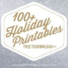 Over 100 FREE Holiday Printables, easy to download and print! Perfect DIY ideas, great for Christmas and creating gifts and crafts.