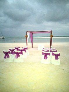 Beach wedding, El Dorado Maroma resort, Riviera Maya, Mexico. https://www.facebook.com/BlissfulMoons