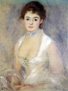 Pierre Auguste Renoir - Madame Henriot 1876. Happy Holiday's http://www.islandheat.com for Family Fun Gift Idea's.