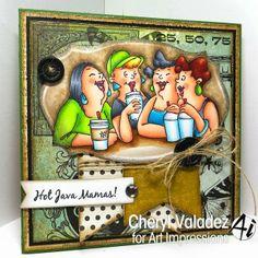 Girlfriend Blends set (#4132) from Art Impressions Ai Hot Java Mamas coffee shop friends