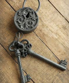 Loving this Metal Lock & Keys Decor on #zulily! #zulilyfinds