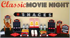 Classic movie night w/printables from Vanessa of blog 5 to 9. #entertaining