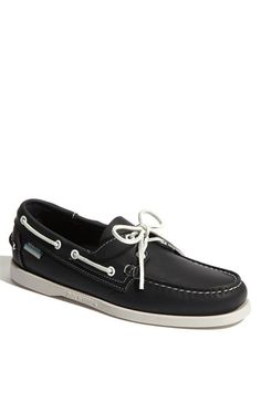 660a137e389 These Sebago Dockside boat shoes are on sale now at Nordstrom. Black Boat  Shoes
