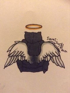#RIPAaron more fanart. @SarasicusAlma I'm obsessed with drawing wings atm sorry :/ I'll draw Aaron himself someday
