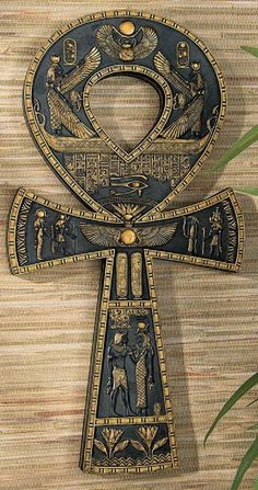 Design Toscano Ancient Egyptian Ankh Wall Plaque for sale online Ancient Egyptian Jewelry, Ancient Egypt Art, Egyptian Symbols, Ancient Symbols, Egyptian Art, Ancient Aliens, Ancient Egyptian Paintings, Ancient Egyptian Architecture, Mayan Symbols