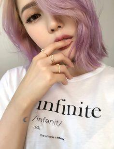 Disney Frozen : Elsa Make-up tutorial / how to do via PONY Syndrome Pastel Hair, Purple Hair, Korean Makeup, Korean Beauty, Cute Korean Girl, Asian Girl, Chanel Corte, Pony Makeup, Ombré Hair