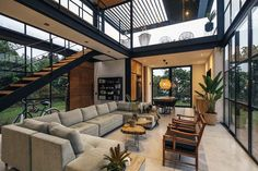 Most Popular Living Room Design Ideas for This Year! Part living room design ideas; Loft Interior Design, Loft Design, Modern House Design, Interior Ideas, Room Interior, Interior Lighting, Lighting Design, Wood House Design, Pastel Interior