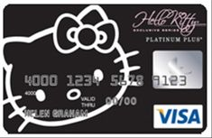 Hello Kitty black credit card