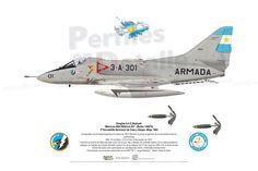 Douglas A-4 Q Skyhawk  Matrícula ARA 0654/3-A-301 (BuAer 144878) 3º Escuadrilla Aeronaval de Caza y Ataque – Mayo 1982