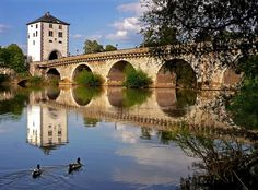 Lahn bridge, Limburg an der Lahn, Germany. Step back in time with this magnificent beauty.
