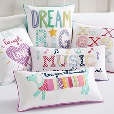 Cute Pillows For Dorm Rooms : hip hip hooray for cute throw pillows! Dorm Room Ideas Pinterest Hip hip, Throw pillows ...