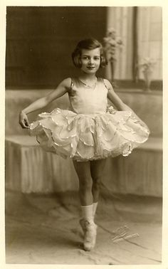 Vintage Postcard ~ Little Dancer-they wore socks with their slippers or toe shoes.