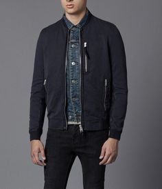 AllSaints Wyatt Bomber Jacket | Mens Bomber Jackets