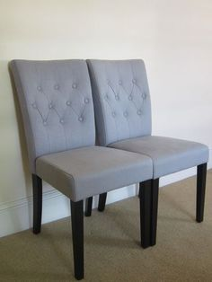 Pair of Flynn Dining Chairs in Persian Grey | eBay