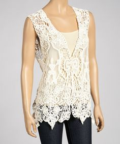 Another great find on #zulily! Caramel Embroidered Linen-Blend Sleeveless Top by Pretty Angel #zulilyfinds