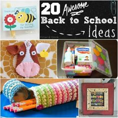 PitterAndGlink: {Back to School Week: 20 Awesome Back to School Ideas}