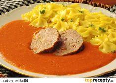 Rajská omáčka z cukety (bez mouky) recept - TopRecepty.cz Thai Red Curry, Ethnic Recipes, Food, Eten, Meals, Diet