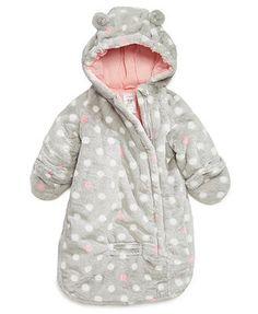 Carter's Baby Outerwear, Baby Girls Dot-Print Pram Bag