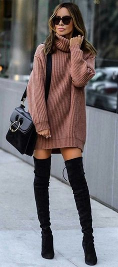 Overknee-Stiefel / Streetstyle Mode / Modewoche Overknee Boots / Streetstyle Fashion / Fashion Week & The post Overknee Boots / Streetstyle Fashion / Fashion Week appeared first on Katherine Levine. Fashion Mode, Look Fashion, Teen Fashion, Womens Fashion, Fashion Outfits, Fashion Boots, Fashion Clothes, Fashion Fall, Dress Fashion