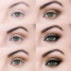 Shadowing green eyes