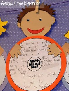 Getting to know you activity: Students define themselves using math! Great use of a circle map/thinking map Portfolio Kindergarten, Kindergarten Math, Teaching Math, Teaching Ideas, Preschool, Teaching Time, Elementary Math, Thinking Maps Math, Map Math