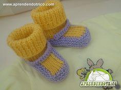 Sapatinho de Tricô Bebê Fábula - Moda Bebê Tricô