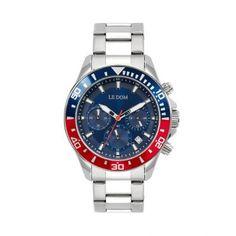 Ανδρικό ρολόι LE DOM LD.1481-1 Eternal με μπλε καντράν, χρονογράφο, ημερομηνία & 24ωρη ένδειξη με μπρασελέ | Ανδρικά ρολόγια Le Dom ΤΣΑΛΔΑΡΗΣ στο Χαλάνδρι #LeDom #Eternal #ρολοι #tsaldaris Rolex Watches, Watches For Men, Chronograph, Accessories, Top Mens Watches, Men Watches, Ornament