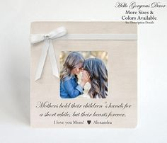 Gift for Mom Mother Picture Frame Personalized Gift for Mom